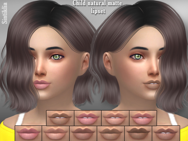 Child natural matte lips by Sintiklia at TSR image 3419 Sims 4 Updates