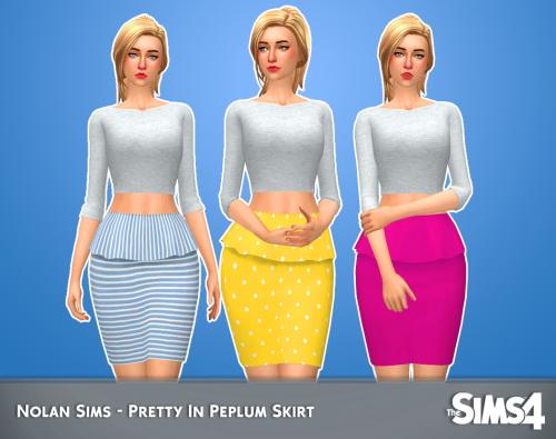 Pretty in peplum skirt at Nolan Sims image 34210 Sims 4 Updates