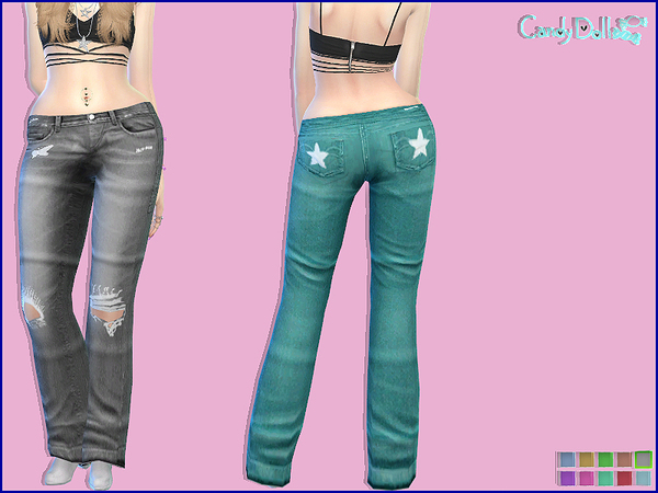 CandyDoll Trendy Jeans by DivaDelic06 at TSR image 3436 Sims 4 Updates