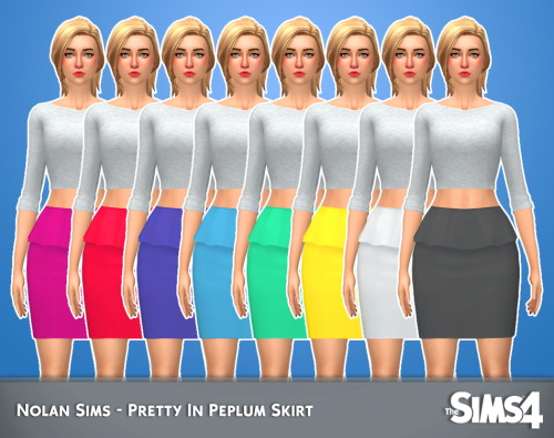 Sims 4 Pretty in peplum skirt at Nolan Sims