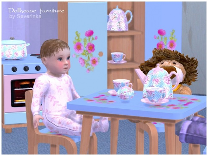 Dollhouse furniture set at Sims by Severinka image 3440 670x505 Sims 4 Updates