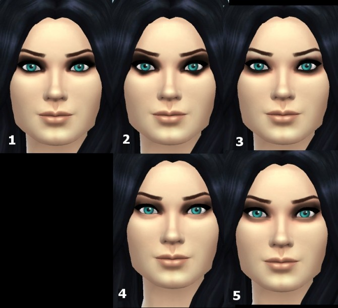 Sims 4 Dark eyeshadow 1.0 by Hinayuna at SimsWorkshop