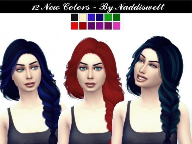 Sims 4 Retexture Hair V8 at Naddi