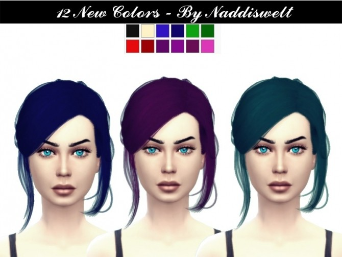 Sims 4 Retexture Hair V9 at Naddi