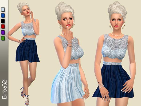 Sims 4 Cinzia dress by Birba32 at TSR