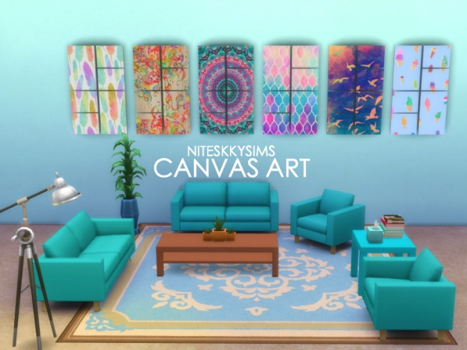 Room With A View Wall Painting Sims