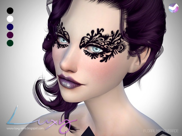 Floral Masquerade mask by LuxySims3 at TSR image 361 Sims 4 Updates