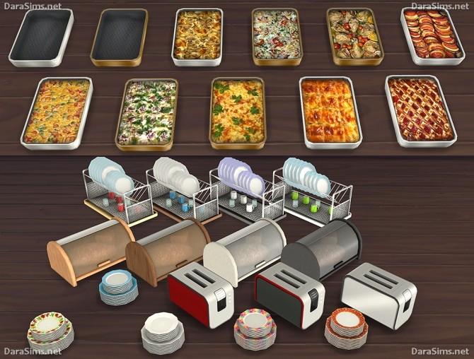 Kitchen Decor Set At Dara Sims 187 Sims 4 Updates
