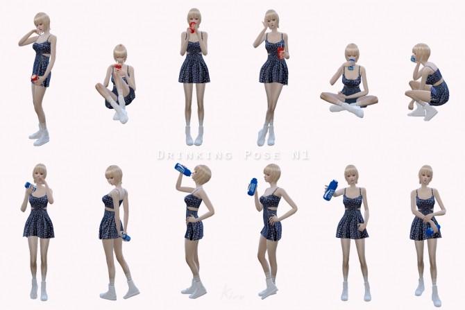 Drinking Pose N1 At Kiru 187 Sims 4 Updates