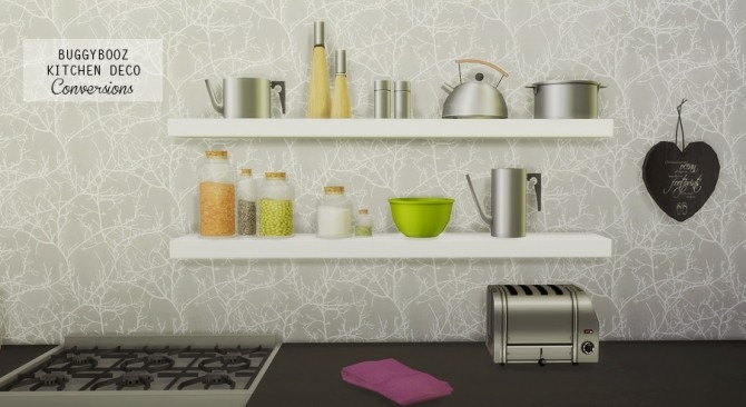 BUGGYBOOZ KITCHEN DECO CONVERSIONS at MIO SIMS image 3672 670x366 Sims 4 Updates