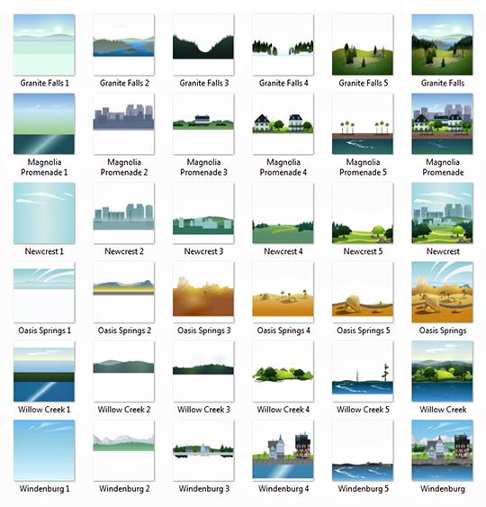 Sims 4 World Menu Images at W Sims