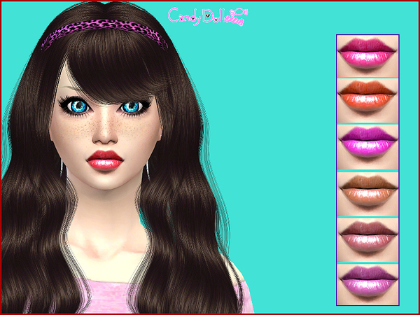 Sims 4 CandyDoll Dolly LipGloss by DivaDelic06 at TSR