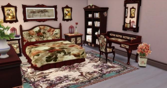 Sims 4 Shabby bedroom by Mary Jimenez at pqSims4