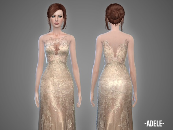 Sims 4 Adele gown by April at TSR