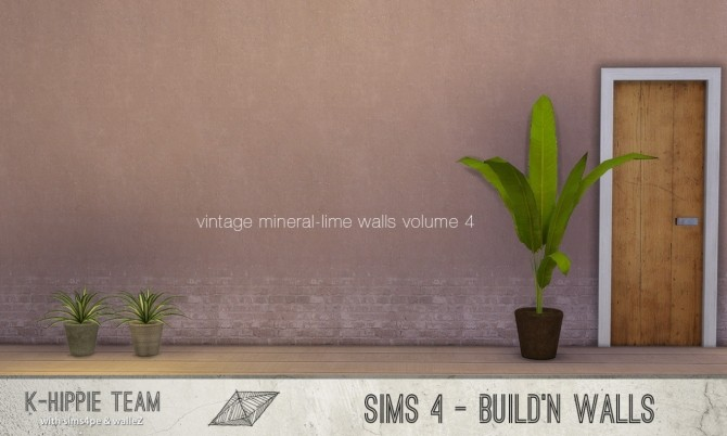 7 mineral lime walls vintage volume 4 at k hippie sims 4 for Mineral wall