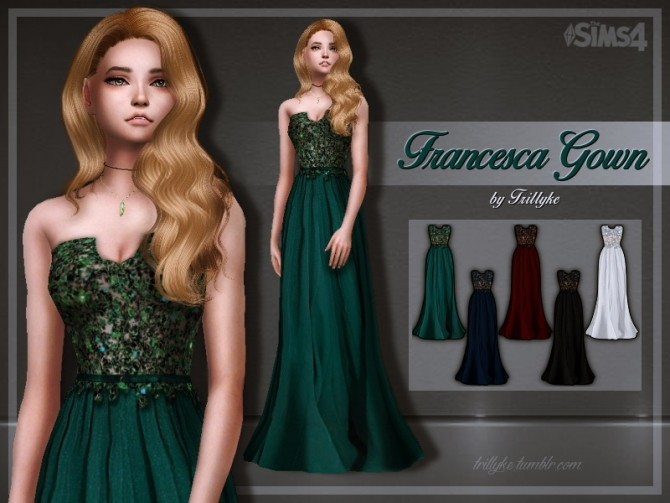 Francesca Gown At Trillyke 187 Sims 4 Updates