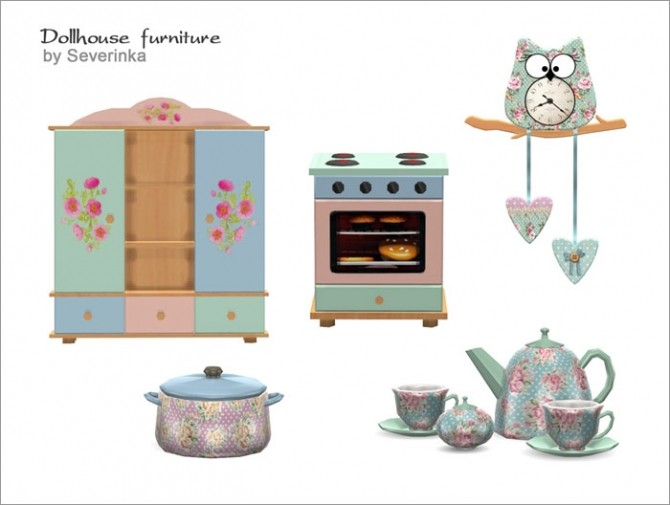 Dollhouse furniture set at Sims by Severinka image 3834 670x505 Sims 4 Updates