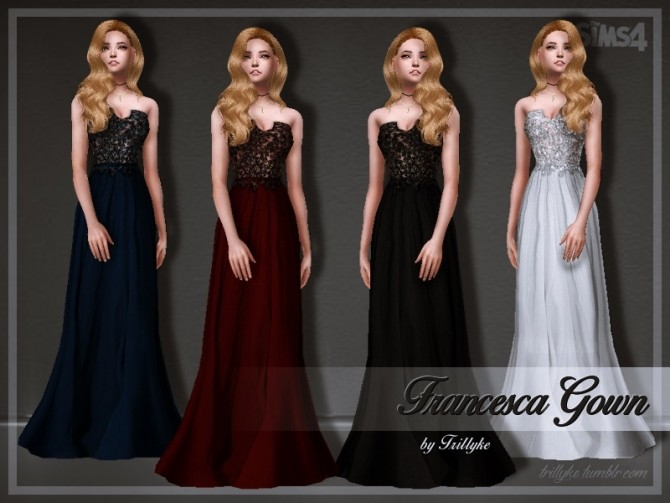 Francesca Gown at Trillyke image 384 670x503 Sims 4 Updates