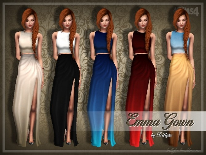 Sims 4 Emma Gown at Trillyke