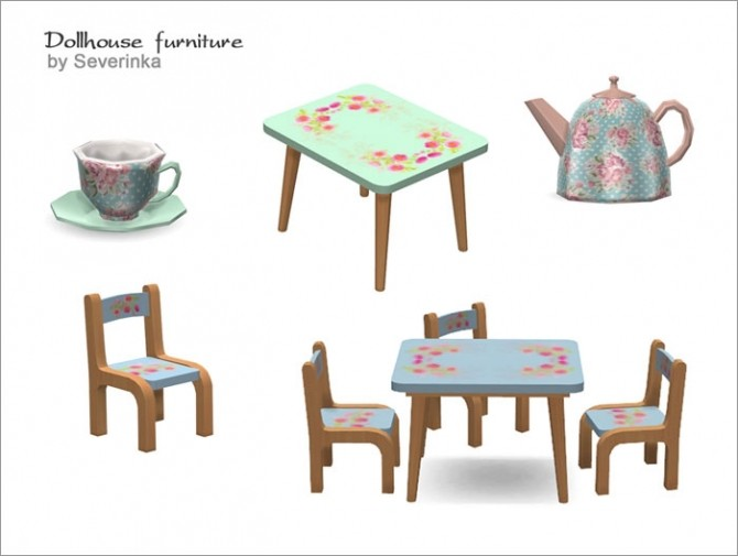 Dollhouse furniture set at Sims by Severinka image 3930 670x505 Sims 4 Updates