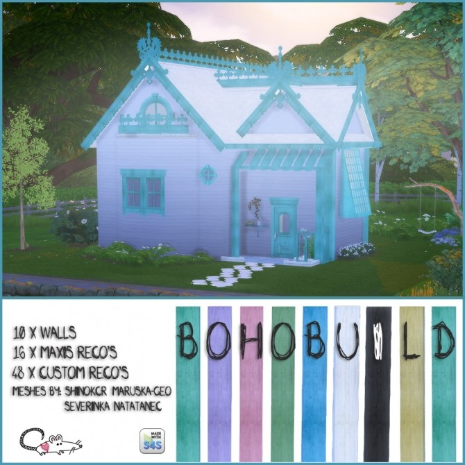 Boho build items at Loverat Sims4 image 408 670x670 Sims 4 Updates