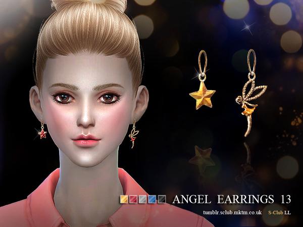Sims 4 Earring 13(f) by S Club LL at TSR