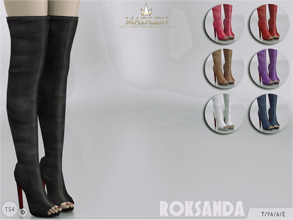 Madlen Roksanda Boots by MJ95 at TSR image 4127 Sims 4 Updates