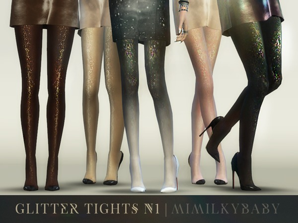 Sims 4 Glitter Tights N1 by mimilky at TSR
