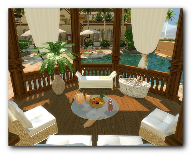 Sims 4 Costa Tropical Hotel at Architectural tricks from Dalila