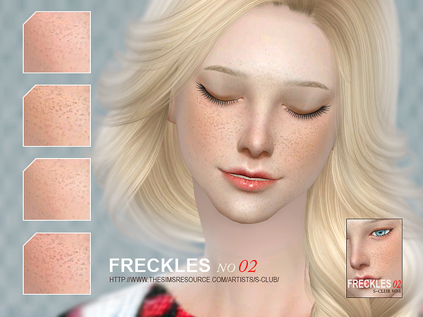 Freckles 02 by S Club WM at TSR image 4226 Sims 4 Updates