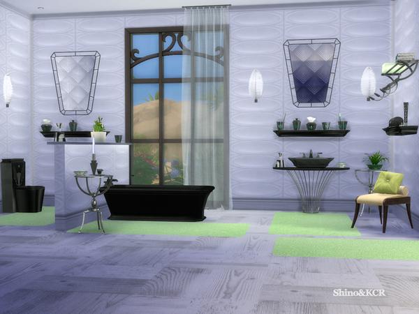 Sims 4 Art Deco Bathroom by ShinoKCR at TSR