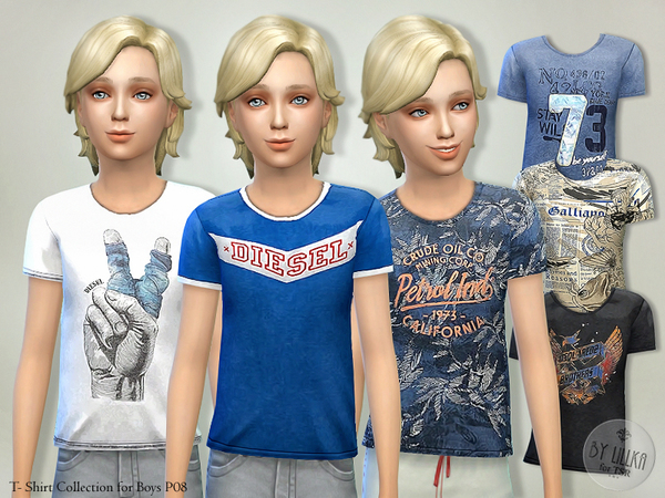 Sims 4 T  Shirt Collection for Boys P08 by lillka at TSR