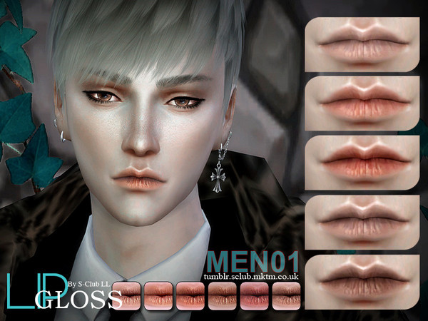 Sims 4 Lips Men01 by S Club LL at TSR