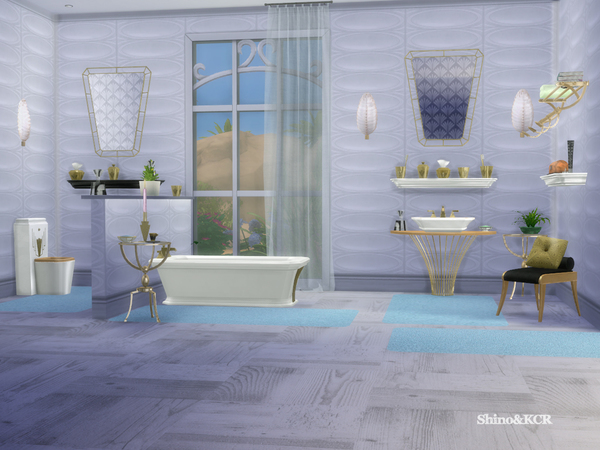 Art Deco Bathroom By ShinoKCR At TSR Sims 4 Updates