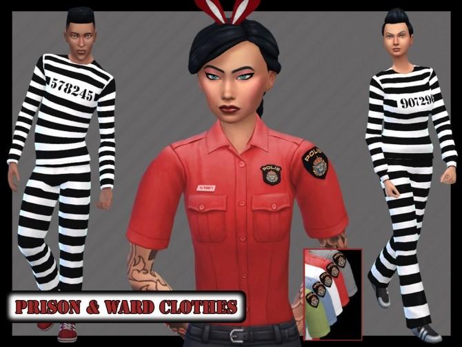 Sims 4 Prison Clothes and Ward Shirt at Seger Sims