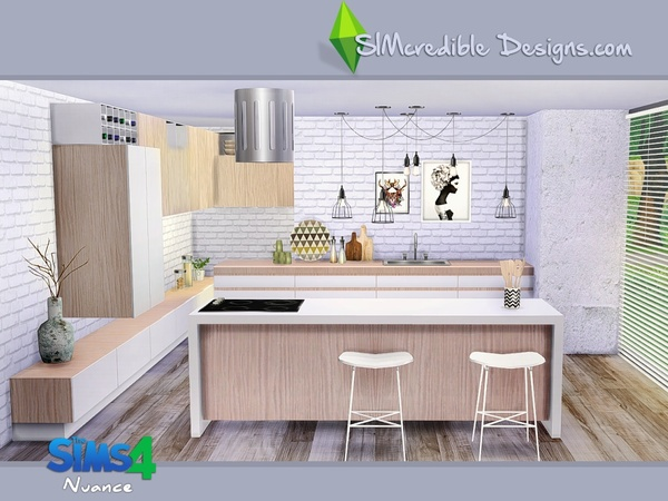 Nuance kitchen by SIMcredible! at TSR image 4521 Sims 4 Updates