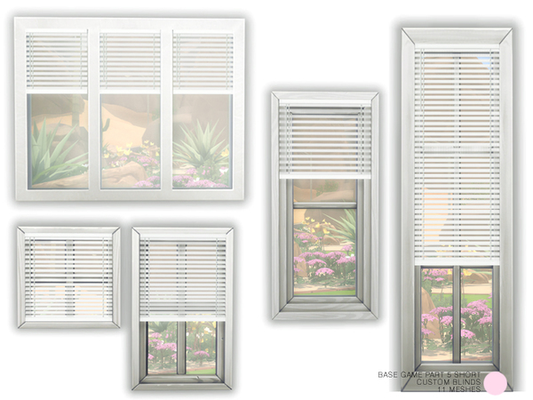 Custom Blind Set Part 5 Short by DOT at TSR image 456 Sims 4 Updates