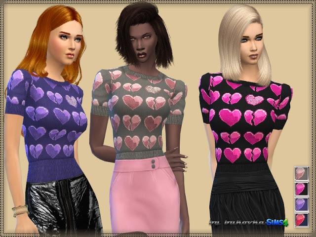Sims 4 Heart Top at Bukovka