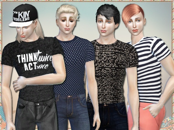 Sims 4 Act Once T Shirts For Men by Simlark at TSR