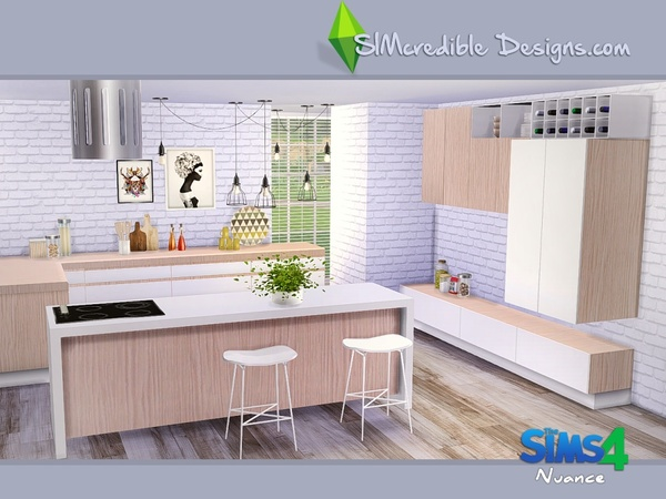Nuance kitchen by SIMcredible! at TSR image 4717 Sims 4 Updates