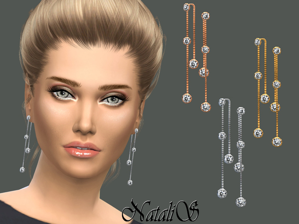 Crystal drop lariat earrings by NataliS at TSR image 475 Sims 4 Updates