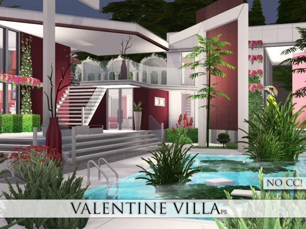 Sims 4 Valentine Villa by Pralinesims at TSR