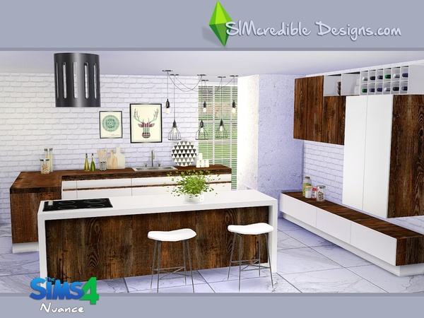 Nuance kitchen by SIMcredible! at TSR image 4817 Sims 4 Updates