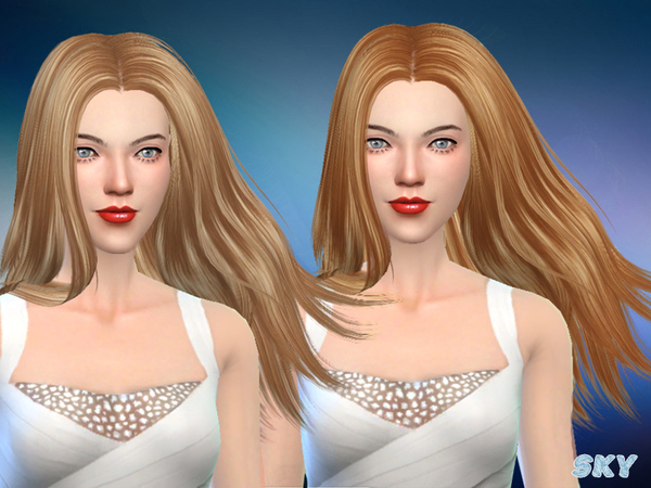 Sims 4 Hair 282 Afra by Skysims at TSR