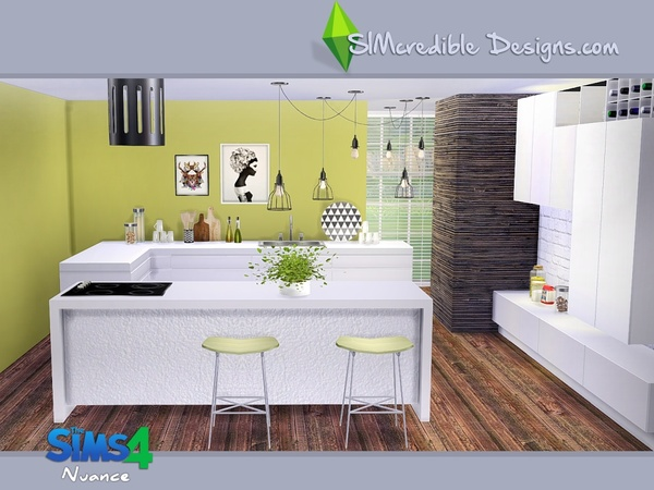 Nuance kitchen by SIMcredible! at TSR image 4918 Sims 4 Updates