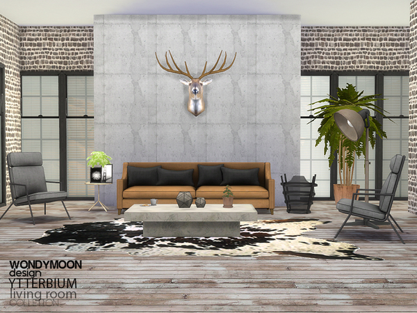 Ytterbium Livingroom By Wondymoon At Tsr 187 Sims 4 Updates