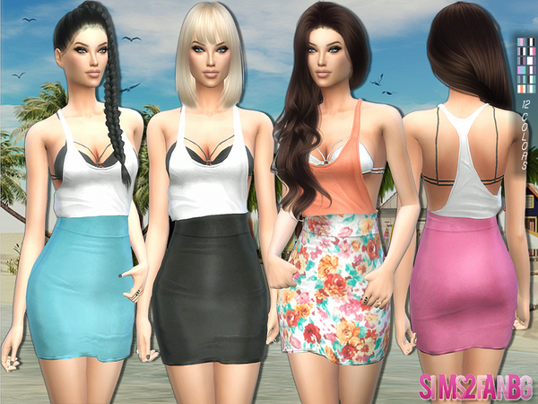 Sims 4 Summer outfit by sims2fanbg at TSR