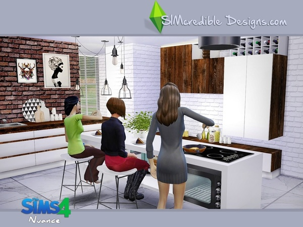 Nuance kitchen by SIMcredible! at TSR image 5018 Sims 4 Updates