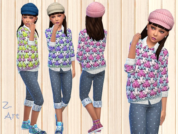 Sims 4 Knit Combi by Zuckerschnute20 at TSR