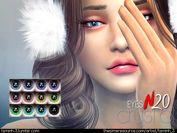 Sims 4 Crystal Eyes N20 by tsminh 3 at TSR